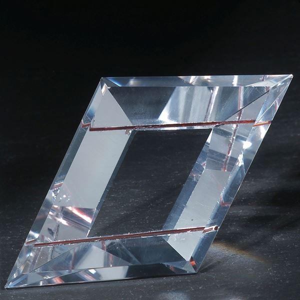Rutil in reinem Bergkristall
