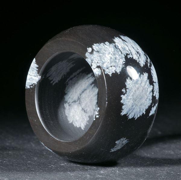 Schneeflockenobsidian, handgeschliffener Ring