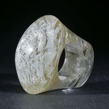 Silberglasring handgeschliffen, Durchmesser 19.2mm