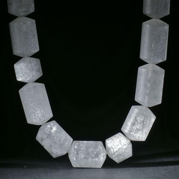 Silberglas Collier ohne Verschluss, D17mm