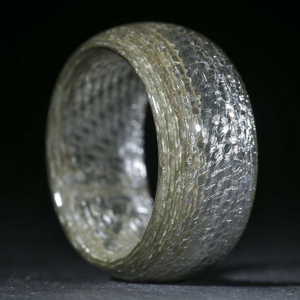 Silbertex, feines Muster poliert