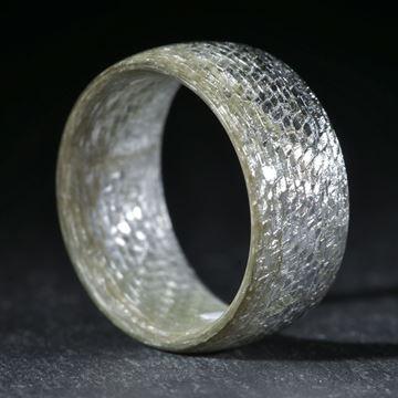 Silbertex, feines Muster, poliert