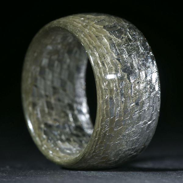 Silbertex, grobes Muster poliert
