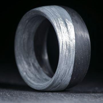 Kombiring aus Carbon gewickelt / Alutex gewickelt