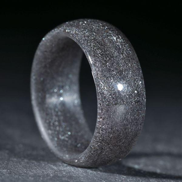 Glasfaser handgewickelt mit Hämatit hell