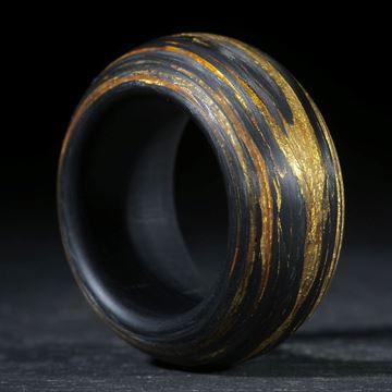 Goldtex/Carbon, gewickelt matt