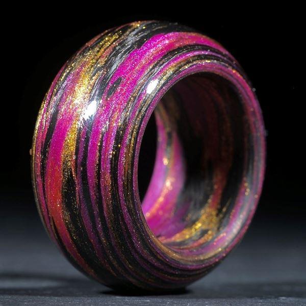 Karbonring mit Glasfaser Gold/Pink (V5 Multiplex)