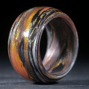 Karbonring, Carbon / Glasfaser Gold, Ocker (Multiplex V6)
