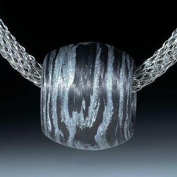 Karbon Anhänger mit Glasfaser Alu metallic