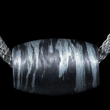 Carbon Anhänger mit Glasfaser Alu metallic