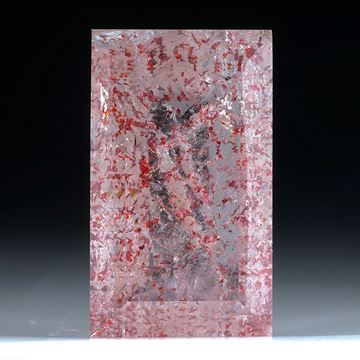 Bergkristall mit Lepidokrokit Einschlüssen