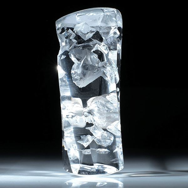 Bergkristall Stab Sechskant, in Torsion geschliffen