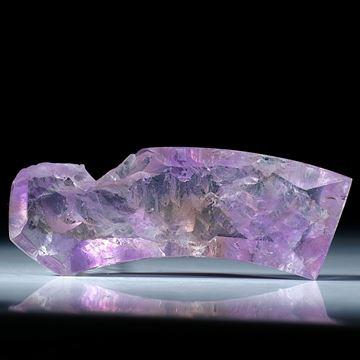 Ametrin Spiegelschliff mit kristalliner Rückseite, ca.81x28.5x11.5mm