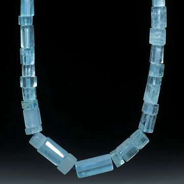 Aquamarin Brasilien, Collier aus sechseckigen Formen