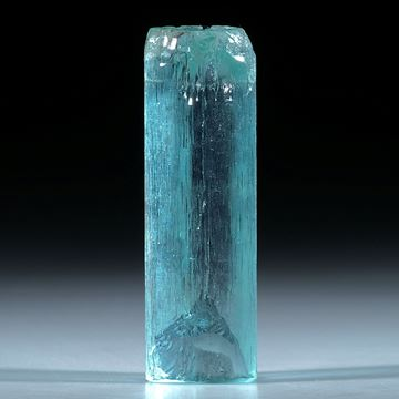 Aquamarin Kristall ca.37x12mm, 45.44ct