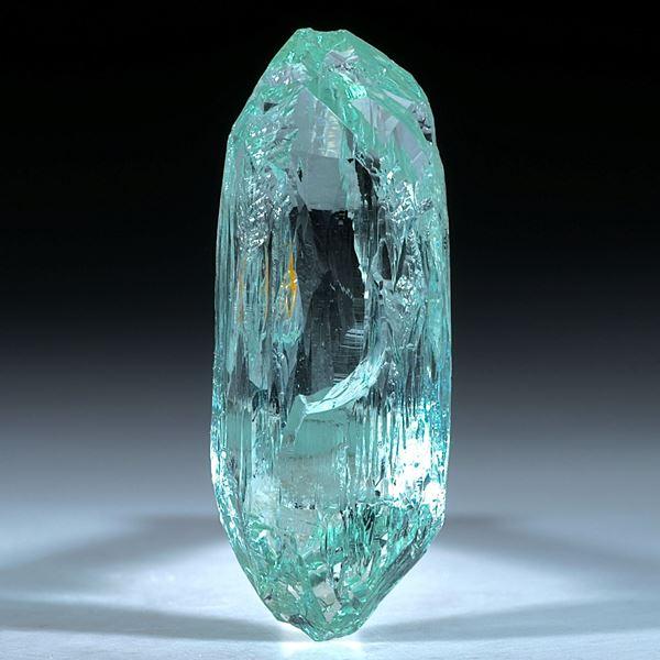 Aquamarin Kristall ca.40x16mm, 49.78ct.