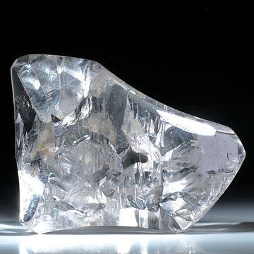 Bergkristall mit Negativkristall Einschlüssen