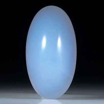 Chalcedon Cabochon oval ca.50x27x18.5mm