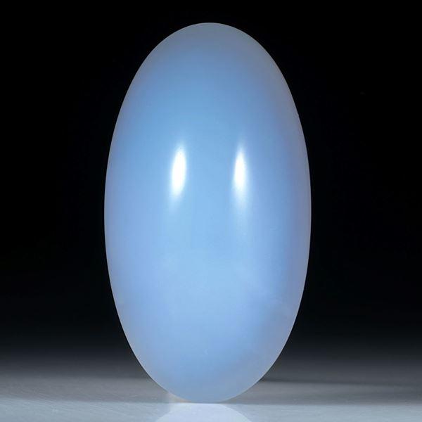 Chalcedon Cabochon oval ca.50x27x18.5mm