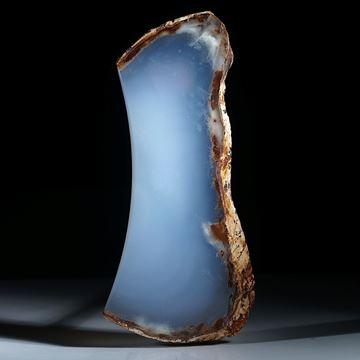 Chalcedon Freiform, beidseitig poliert und teils naturbelassen