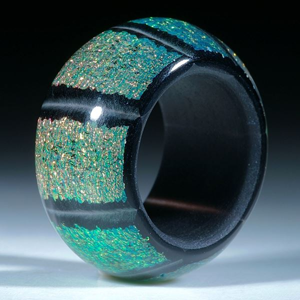 Dichroic Glass, Opalglas Ring, Bandring parallel