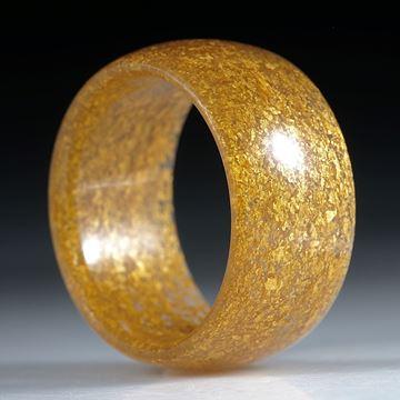 Fingerring aus Glasfaser mit Blattgold