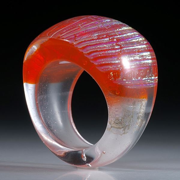 Fingerring Dichroic Glass, Opalglas Ring