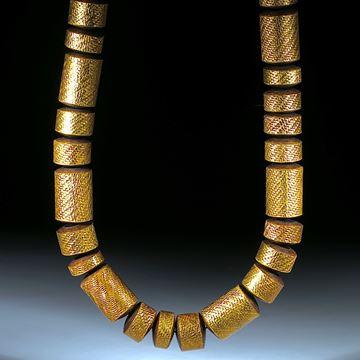 Goldtex (Glasfaser mit Blattgold), Zylinderformen poliert