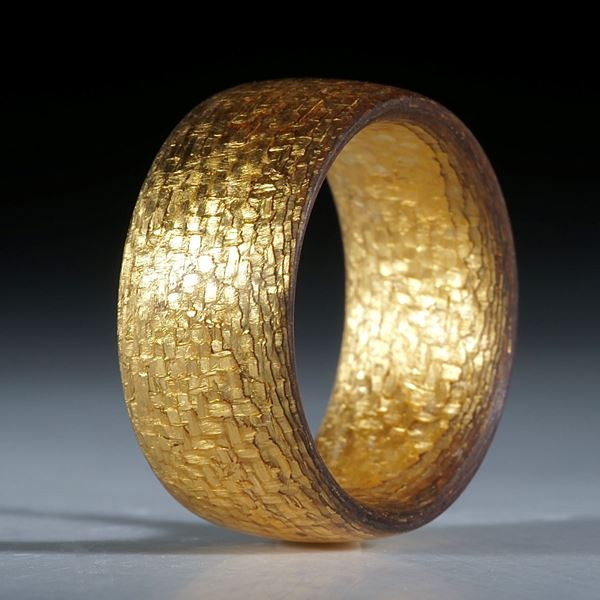 Goldtex Fingerring handgeschliffen, parallele Form