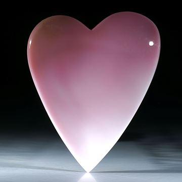 Grosse Fechterschnecke, Karibik, handgeschliffenes Herz