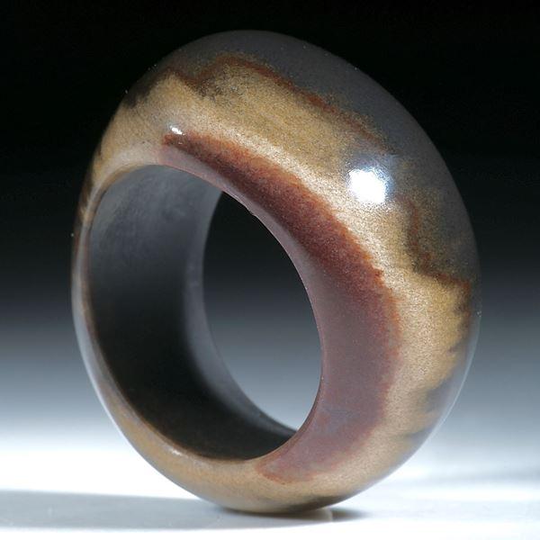 Jaspis Brasilien, Fingerring barocke Form