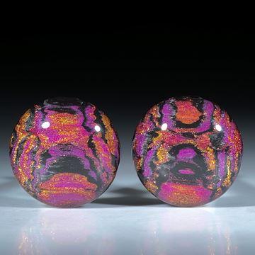 Paar für Ohrschmuck, Carbon mit Glasfaser