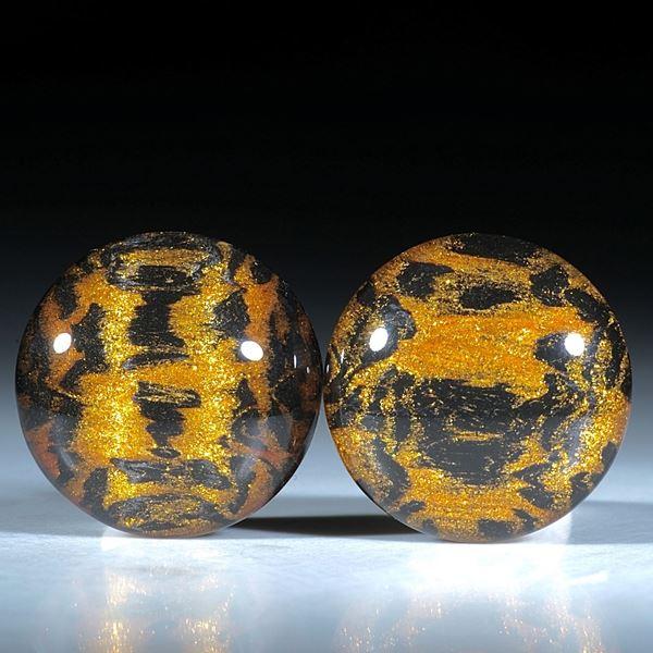 Paar für Ohrschmuck, Carbon mit Glasfaser cosmic Gold