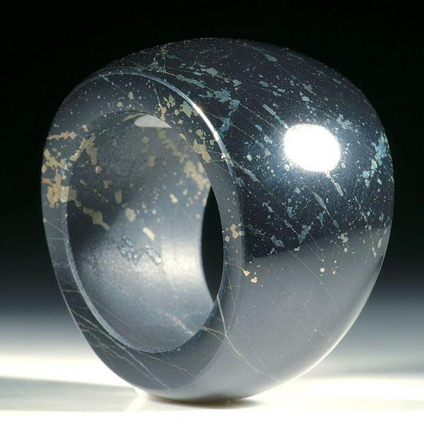 Pyritschiefer (Grindelwald), konisch geschliffener Ring