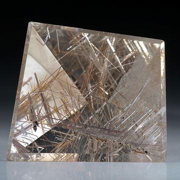 Rutilquarz Spiegelschliff ca.33x30x18mm