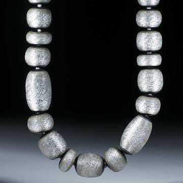 Silbertex Collier (Glasfaser mit Blattsilber)