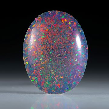 synthetischer Opal, ovaler Cabochon ca.28x22x6mm