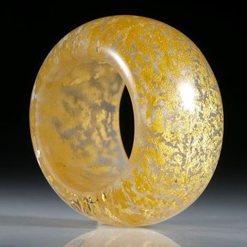 Goldglas Fingerring, Bandring parallel, bombiert