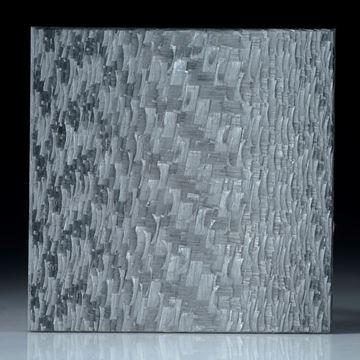 Alutex Viereck, grobe Struktur mattiert, Kantenlänge 32,5 x 32,5mm