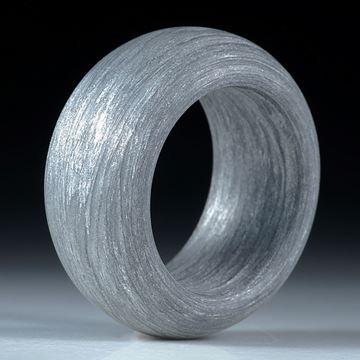 Alutex Fingerring, gewickelte Struktur mattiert