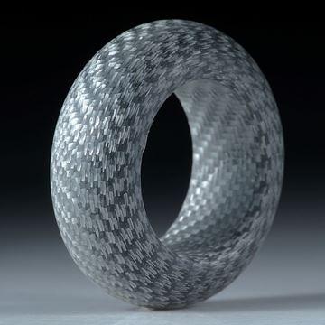 Alutex Fingerring, feine Struktur mattiert, Breite 10.5mm