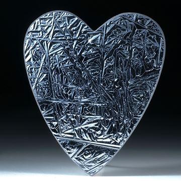Silicium Kristall, handgeschliffene Herzform ca.63x55x4mm