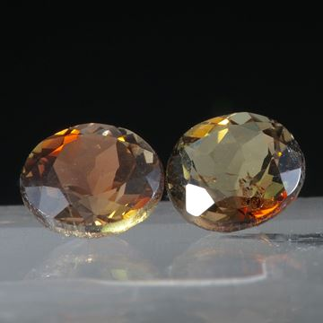 Andalusit Paar, rund, 1.66ct.