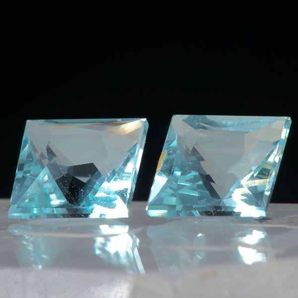 Aquamarin Paar, Viereck 4.64ct. ca.8x8x6mm