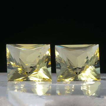 Beryll Paar 4.75ct. Viereck ca.8x8x6mm
