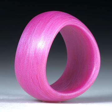 """Fingerring Glasfaser, Fibertec """"rosadynamisch"""" geschwungene Form"""