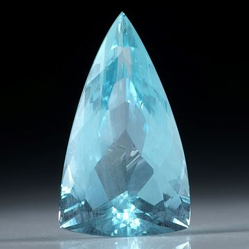 Aquamarin Dreieck facettiert 6.93ct. 20x11.5x7.5mm