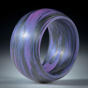 """Fibertec: Karbonring mit Glasfaser """"rosadynamisch"""" Duplex handgewickelt"""