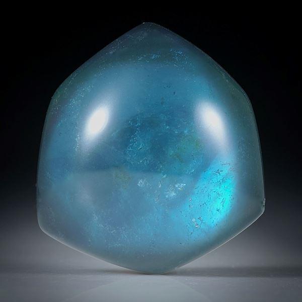 Turmalin mit Bergkristall doublettiert, 32.23ct. freie Form ca.23x21x9.5mm