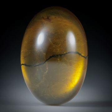 Turmalin mit Bergkristall doublettiert, 40.45ct. ovaler Cabochon ca.28x19.5x10mm